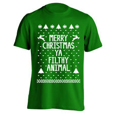 Merry Christmas Ugly Sweater new funny Green Men's T-Shirt