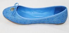 AUTH Tory Burch Women Chelsea Stitched Logo Ballet Flat Shoes