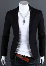 HOT STYLISH Men's Casual Slim Fit One Button Formal Suit Blazer Coat Jackets Top