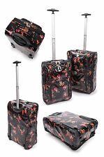 "Lightweight Protective Cabin Sized Hand Luggage Trolley Case 17/20"" Black New"