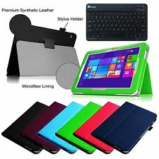 For Toshiba Encore 2 WT10-A32/A64 10.0 Leather Case Cover w/ Bluetooth Keyboard
