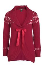NEW LADIES WOMANS CHRISTMAS SNOWFLAKE WARM WINTER CARDIGAN SIZE 10 TO 20 UK