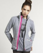 New Womens Superdry Super Slalom Track Top Grey Marl