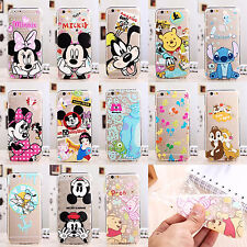 Ultra Thin 0.3mm Disney Crystal Clear Soft Rubber Case Cover For Apple iPhone