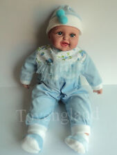 LARGE LAUGHING BABY DOLL 48cmH VINYL & SOFT BODIED DOLL INCLUDES CLOTHES