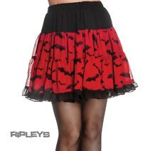 HELL BUNNY Halloween Goth BATS SKIRT Ruffle Black RED All Sizes