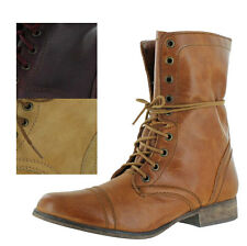 Steve Madden Troopa Women's Leather Combat Military Boots