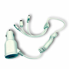 3 IN 1 30 PIN APPLE, MICRO USB AND LITNING CAR CHARGER SUITABLE WITH HTC ONE X