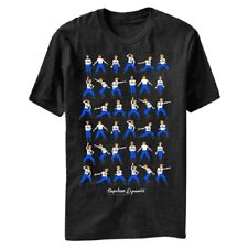 Adult Black Movie Napoleon Dynamite Dance Moves Cartoon Step by Step T-Shirt Tee