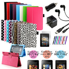 """New PU Leather Folio Stand Case Cover For Amazon Kindle Fire HDX 7 & 8.9 & HD 7"""""""