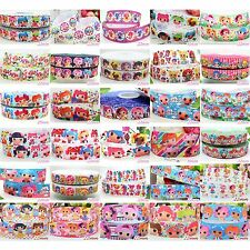 9 22 25mm Lala Loopsy Grosgrain cartoon Ribbon Craft Bow 2 5 10 20 50 100 Yards