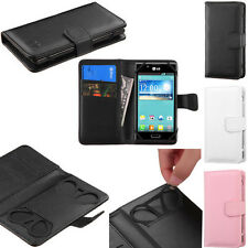 BOOK WALLET PU Leather Card Slots Phone Cover Case G-1 for KYOCERA SmartPhone