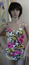 NWOT genuine IT FIGURES fiji floral Wrapture wrap around & tie 1pc Swimsuit,8,10
