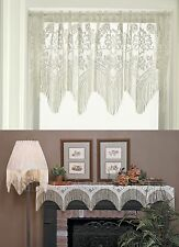 Heritage Lace Gala 4 Way Valance, Mantle Scarf, Lampshade Topper, in 2 Colors