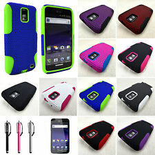 For Samsung Galaxy S2 Skyrocket I727 Mesh Dual Layer Soft Hard Case Cover