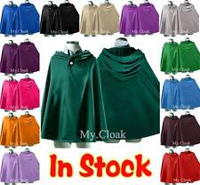 Halloween Short Hooded Cloak Wedding Cape Pagan Witch-Various Colours Free P&P