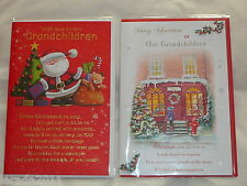 TO OUR/THE GRANDCHILDREN CHRISTMAS CARD CUTE FROM GRANDPARENTS GRANDKIDS TRAD