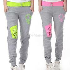 Cartoon Womens Sports Athletic Lounge Sweat Pants Jogging Yoga Stretch Trousers