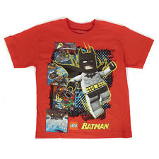 DC Comics Lego Batman Chase Red Kids Boys Graphic T-Shirt Top XL