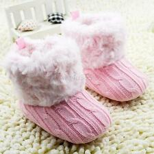 Infant Baby Crochet/Knit Boots Booties Toddler Girl Winter Snow Crib Shoes W98