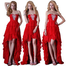 Masquerade Formal Long Back Short Front Evening Gown Party Prom High Low Dresses