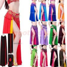 Sexy Professional Belly Dance Costume Dance Skirt Chiffon Dress 13 Colors