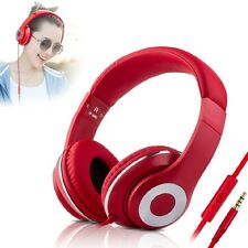 3.5mm Jack Stereo Music Headband Headphone Hands Free MIC For Cell Phone Laptop