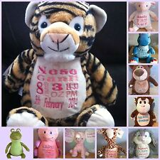 Personalised Cubbies teddies/teddy & Comforters Christening/new baby gifts