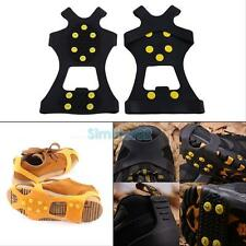 Over Shoe Studded Snow Grips Ice Grips Anti Slip Snow Shoes Crampons Cleats New