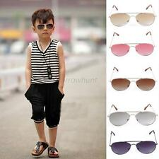 Cool Hot Kids Boys Gilrs Unisex Sunglasses Retro Aviator Metal Frame Eyewear