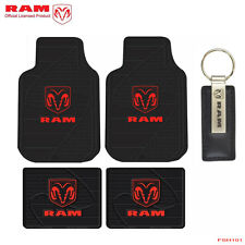 Brand New Dodge Ram Car Truck SUV Red Ram Logo Front Rear Back Rubber Floor Mats
