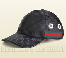 GUCCI black GG nylon FIAT 500 Edition web ribbon Baseball Hat cap NWT Authentic!