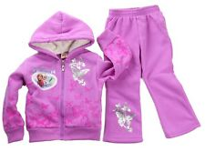 C GIRLS PURPLE disney FROZEN ELSA OUTFIT TRACKSUIT HOODIE JACKET PANTS 2PC SET