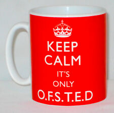Keep Calm It's Only OFSTED Mug Can Personalise Great Teacher's Lesson Plan Gift