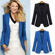 Fashion Autumn Winter Women Peplum Office Coat Top Slim Cardigan Jacket Brazer