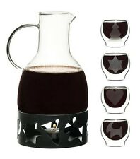 Sagaform Christmas Glass Mulled Wine Carafe Pot Warmer Or Double Walled Glasses