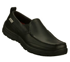 Skechers HOBBES SLIP RESISTANT Men's Shoes BLACK 77005BOL