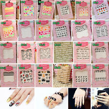 2014 3D Acrylic Manicure Decorations Nail Art Tips Stickers Colorful Decal Wraps