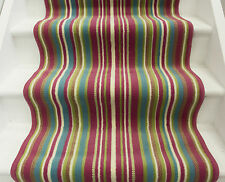 Stair Carpet Runner Rug Lime Colourful Pink Striped Wide Narrow Long Any Length