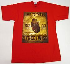 STREETWISE TOP RANK T-shirt Boxing Poster Tee Adult L,XL,2XL,3XL,4XL Red NWT