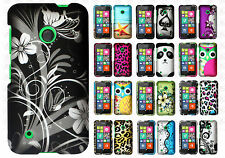 For Nokia Lumia 530 Rubberized Hard Case Snap on Phone Cover +Screen Protector