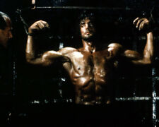 RAMBO: FIRST BLOOD PART II SYLVESTER STALLONE BARECHESTED IN CHAINS PHOTO OR POS