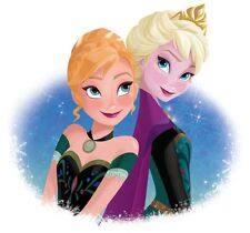 "2.5-8.5"" DISNEY FROZEN ANNA ELSA CHARACTER CUSTOM FABRIC APPLIQUE IRON ON"