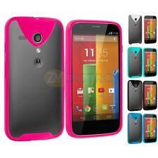 For Motorola Moto G TPU Bumper Skin Case Cover with Built In Screen Protector