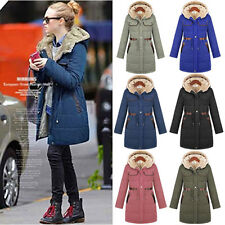 Super Women's Warm Winter Coat Hood Parka Overcoat Long Jacket Outwear