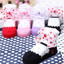 Newborn Kid Girls Polka Dots Cotton Stockings Baby Boy Anti Slip Ankle Socks A54