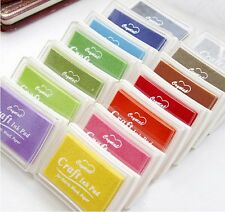 Wholesale Rubber Stamps Craft Ink Pad for Paper Wood Fabric many Colours hot
