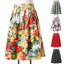❤Country Style❤ Housewife Vintage Rockabilly 50s Jive Party Short Dress Skirts