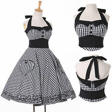 VICTORIAN Vintage Retro Swing 50's Pinup Rockabilly Evening Prom Party Tea Dress