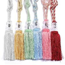 1 Pair Crystal Beaded Tassel Tiebacks Home Windows Curtain Tie Backs Holldbacks